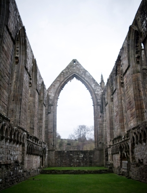 Ruins of an abbey in Yorkshire Dales